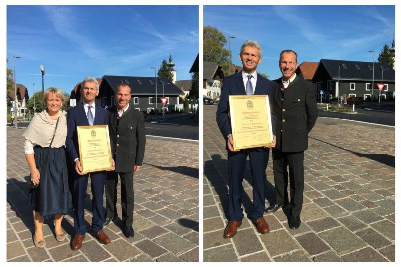 Dietmar Haslauer Ehrenring der Gemeinde Oberalm